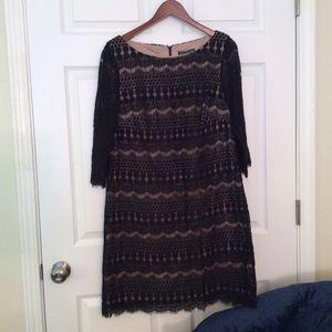 Jessica Howard Black Crochet Dress.